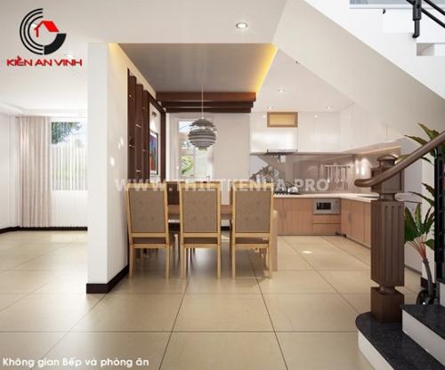 bếp và cầu thang