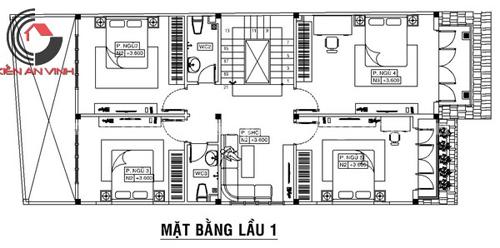 thiết kế nhà anh thượng lầu 1