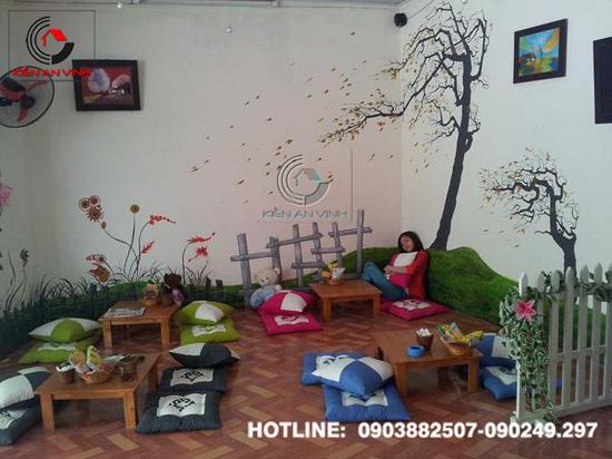 Thiết kế quán cafe bệt cún hút 08