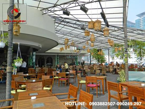 Thiết kế quán cafe sân vườn Cổ Mộc 010