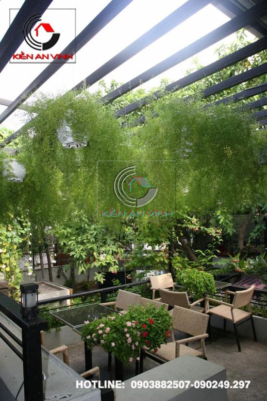 Thiết kế quán cafe sân vườn Cổ Mộc 02