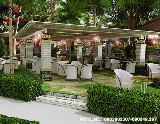 Thiết kế quán cafe sân vườn Cổ Mộc 03