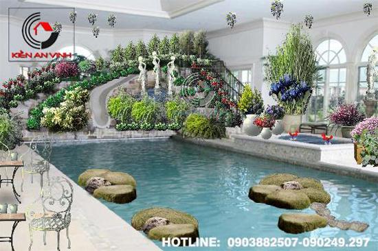 Thiết kế quán cafe sân vườn Cổ Mộc 05