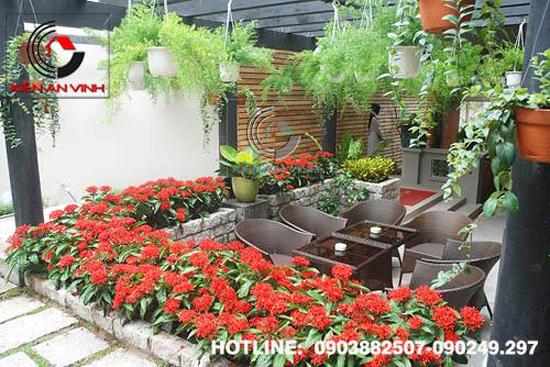 Thiết kế quán cafe sân vườn Cổ Mộc 08