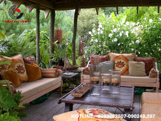 Thiết kế quán cafe sân vườn Cổ Mộc 09