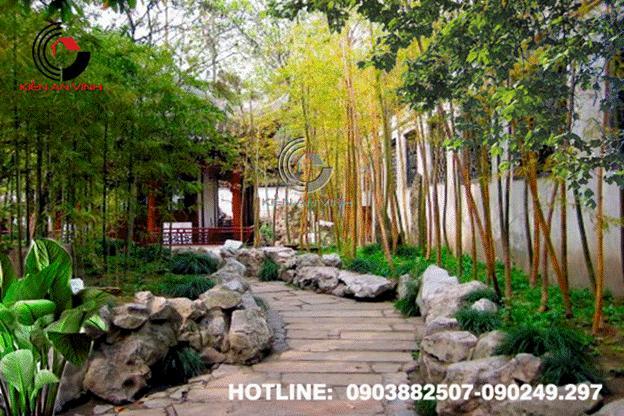 Thiết kế cafe sân vườn lãng mạn