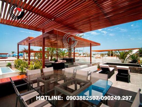 Thiết kế không gian quán cafe san vườn