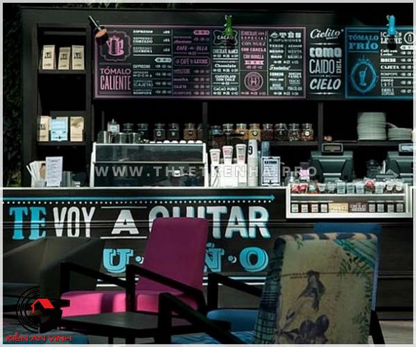 thiết kế quán cafe phong cách color block 3