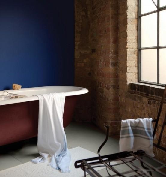Phòng tắm dịu dàng với tường gạch (14)