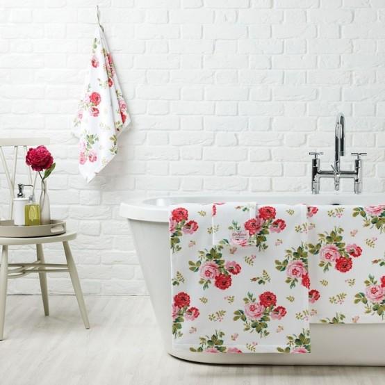 Phòng tắm dịu dàng với tường gạch (1)
