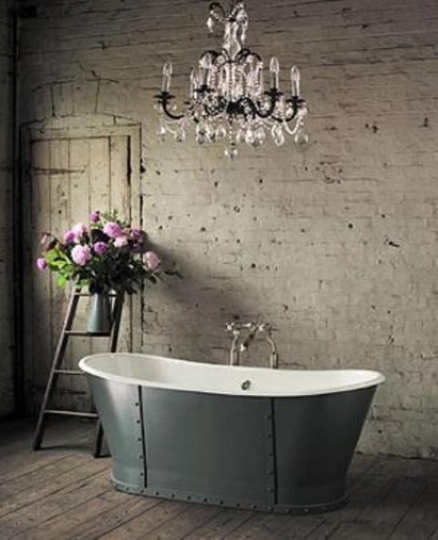 Phòng tắm dịu dàng với tường gạch (24)