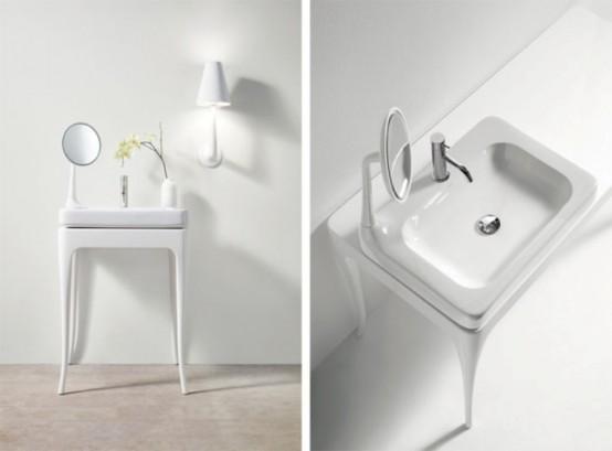 Nội thất phòng tắm lấy cảm hứng từ những năm 30