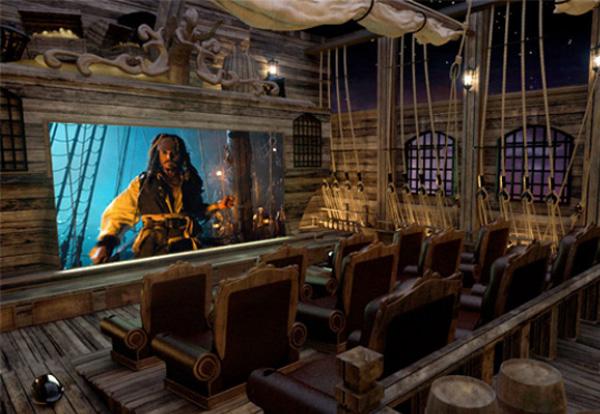 Rạp phim thiết kế theo phong cách Cướp biển Caribbean