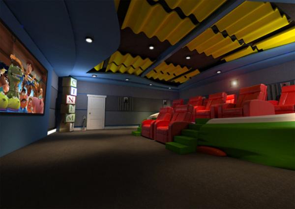 Rạp phim sắc màu dành cho các bé.