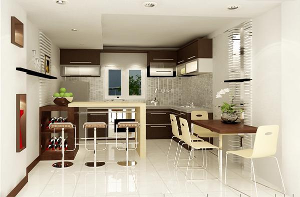 Tư vấn thiết kế phòng bếp trong nhà ống