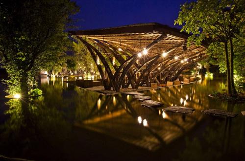 Nhà hàng tre bamboo wing 7
