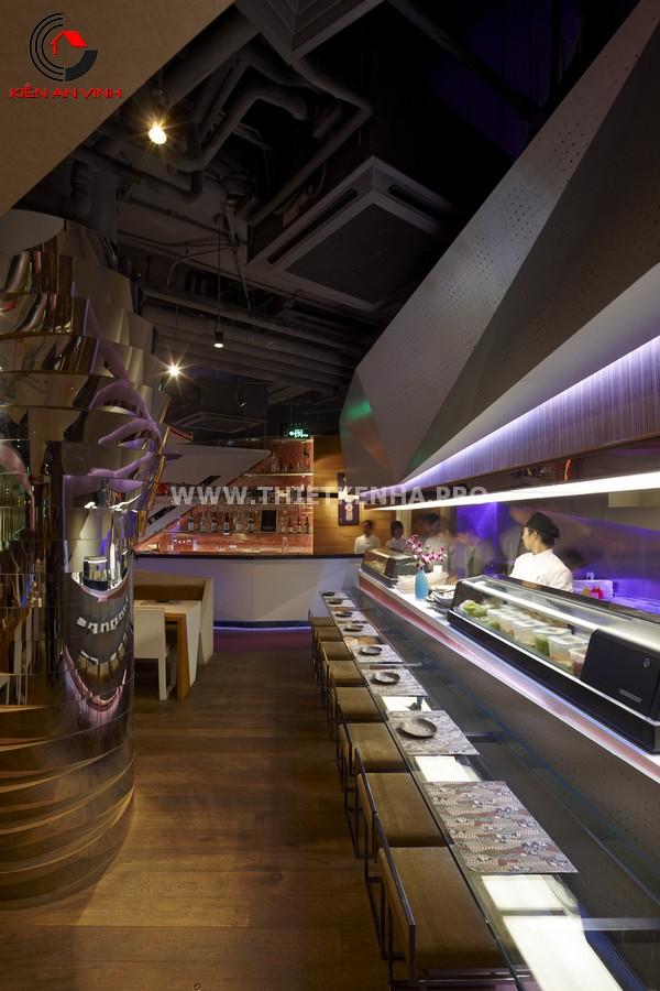 Thiết kế nhà hàng theo phong cách Origami 3