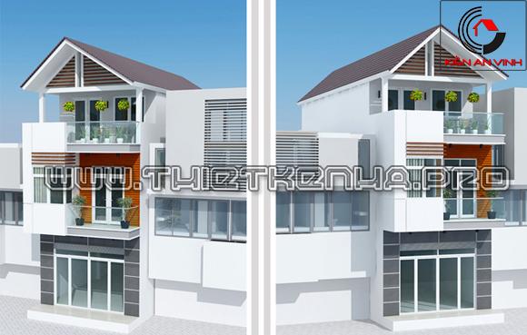Thiết kế nhà phố hiện đại sang trọng