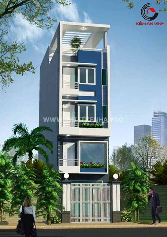 Thiết kế nhà phố 5x15m hợp phong thủy