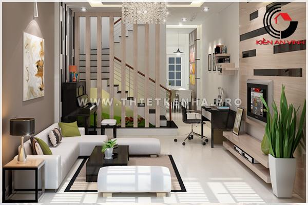 thiết kế nội thất phòng khách view 1