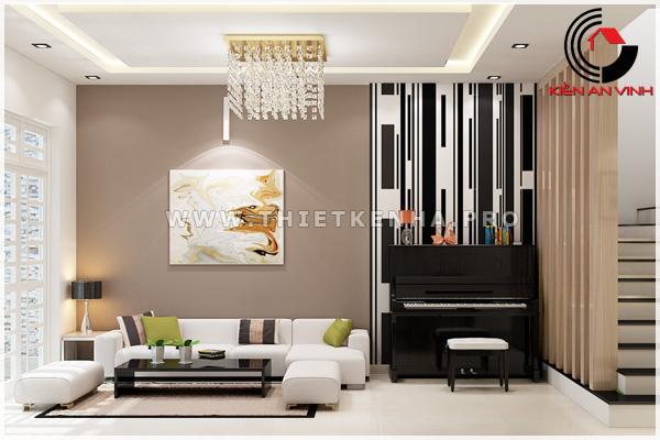 thiết kế nội thất phòng khách view 2