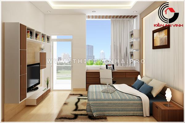 thiết kế nội thất phòng ngủ view 1