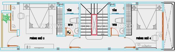 thiết kế sơ bộ tầng hai