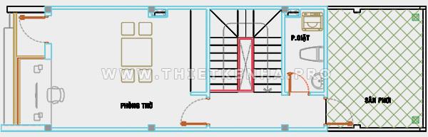 thiết kế sơ bộ tầng trệt