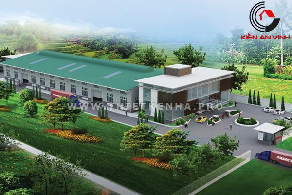 thiết kế nhà xưởng cửa cuốn TDC Bình Dương