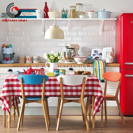 Thiết kế nhà bếp đẹp mắt với gam màu đỏ 10
