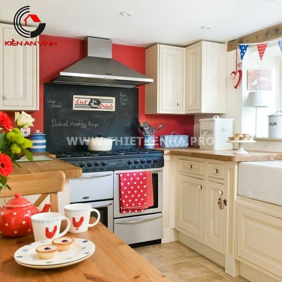 Thiết kế nhà bếp đẹp mắt với gam màu đỏ 7