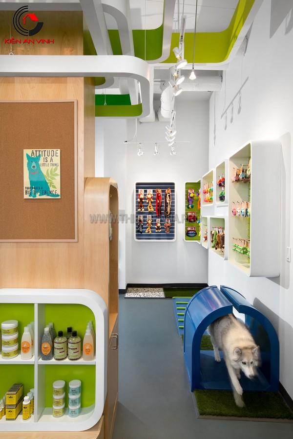 thiết kế cửa hàng thú cưng