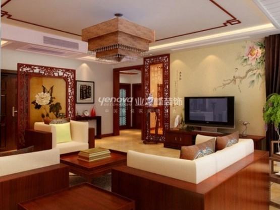 thiết kế phòng khách theo phong cách trung hoa 5