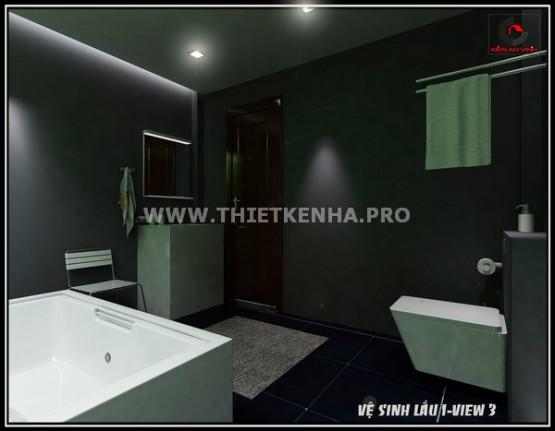 Nội thất phòng tắm nhà phố hiện đại 3