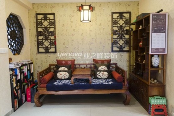 thiết kế phòng khách theo phong cách trung hoa 1