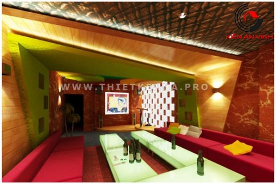 thiết kế quán karaoke đẹp 2