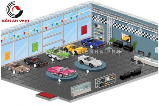 thiết kế showroom xe hơi 1