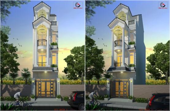 Thiết kế nhà phố anh Thủy quận 9