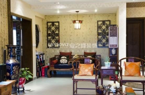 thiết kế phòng khách theo phong cách trung hoa 2