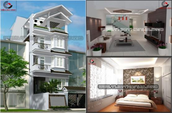Thiết kế mẫu nhà phố sang trọng