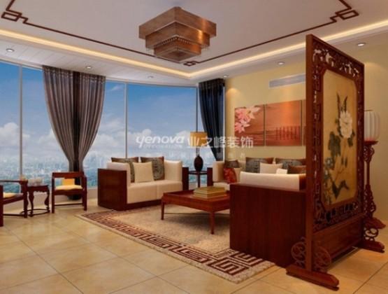 thiết kế phòng khách theo phong cách trung hoa 4