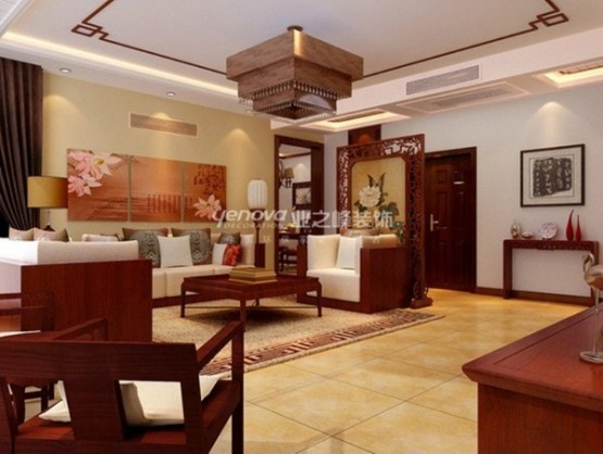 thiết kế phòng khách theo phong cách trung hoa 6