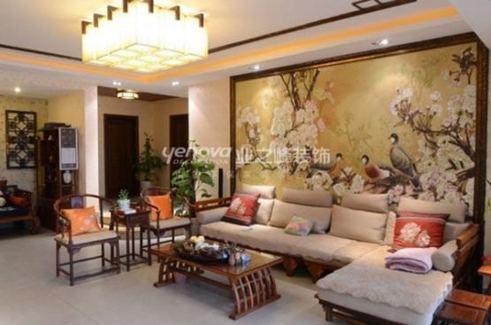 thiết kế phòng khách theo phong cách trung hoa 3