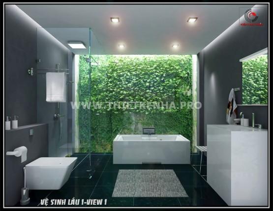 Nội thất phòng tắm nhà phố hiện đại 1