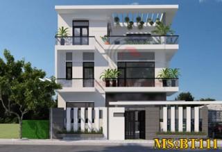 Mẫu thiết kế biệt thự phố 3 tầng hiện đại
