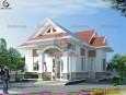 Mẫu thiết kế biệt thự vườn đẹp mái thái