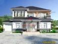 Thiết kế biệt thự 2 tầng mái thái đẹp tại Đồng Nai