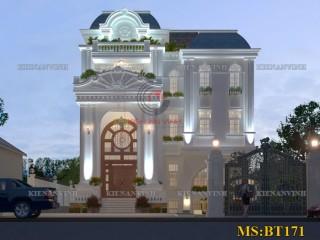 Biệt thự 4 tầng phong cách bán cổ điển đẹp Quận 9