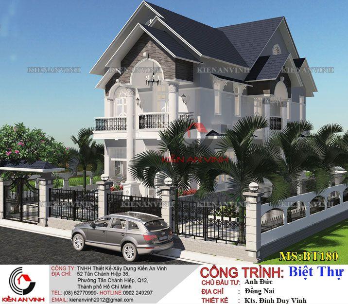 Mẫu biệt thự 2 tầng đơn giản đẹp tại Đồng Nai