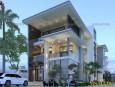 Thiết kế biệt thự 3 tầng phong cách Villa đẹp